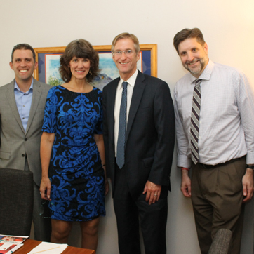 Visit from State Treasurer Ted Wheeler and Chief of Staff Tom Rinehart