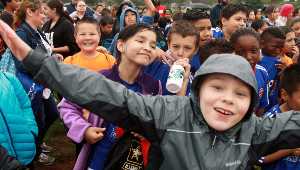 Kids at Community Cup