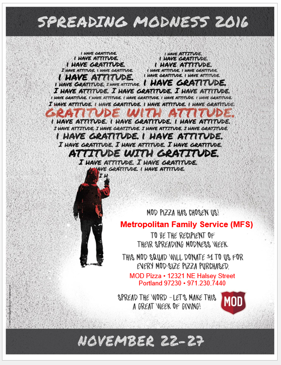 Flyer for Mod Pizza's Campaign for MFS