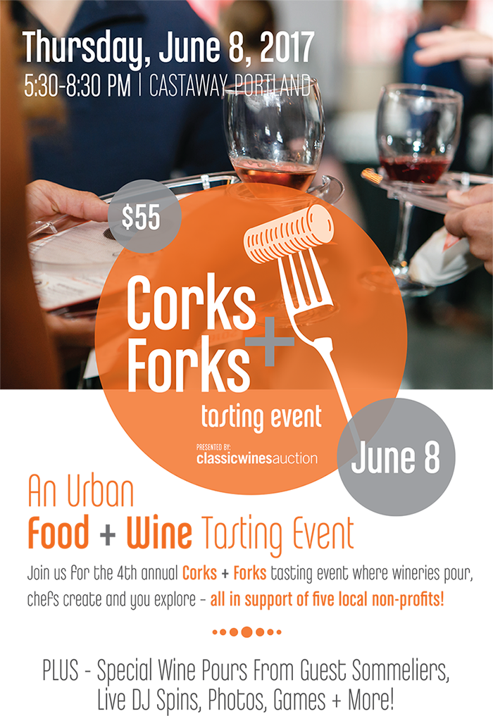 Corks and Forks Mailer