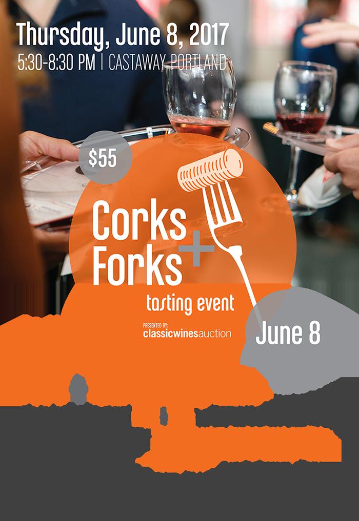 Corks and Forks Mailer