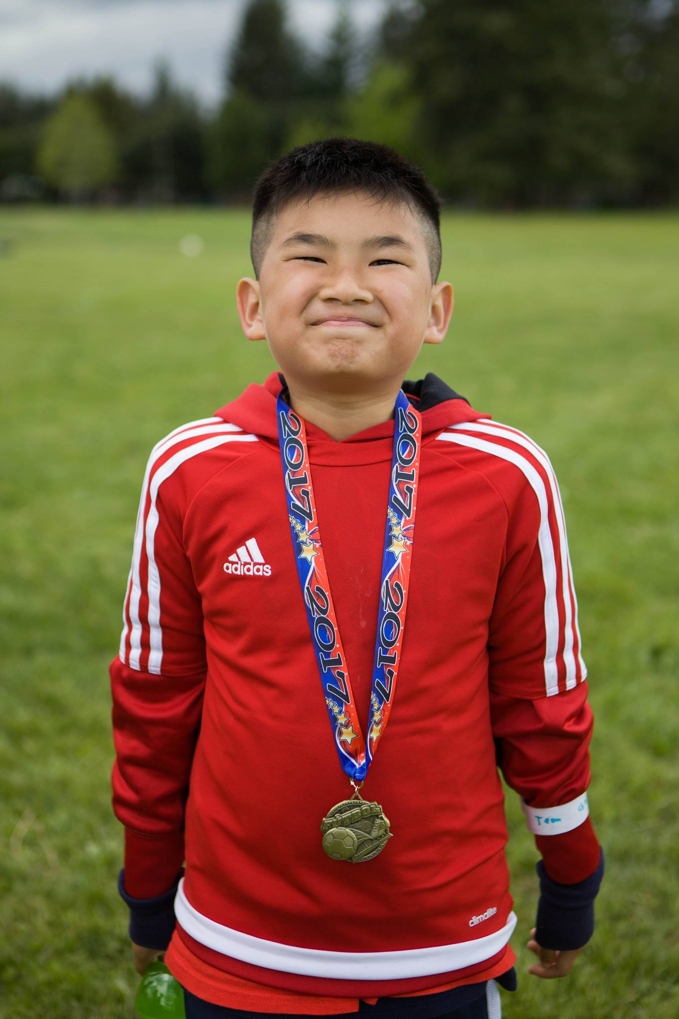Community Cup - Proud of his medal!