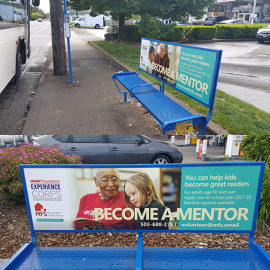 Experience Corps Bus Stop Benches