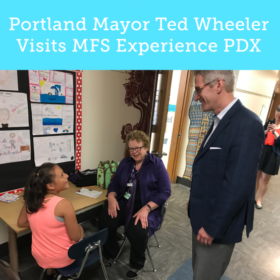Ted Wheeler Visits Experience PDX